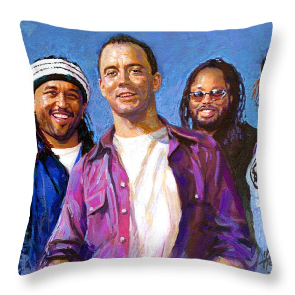 Dave Matthews Band Throw Pillow by Viola El