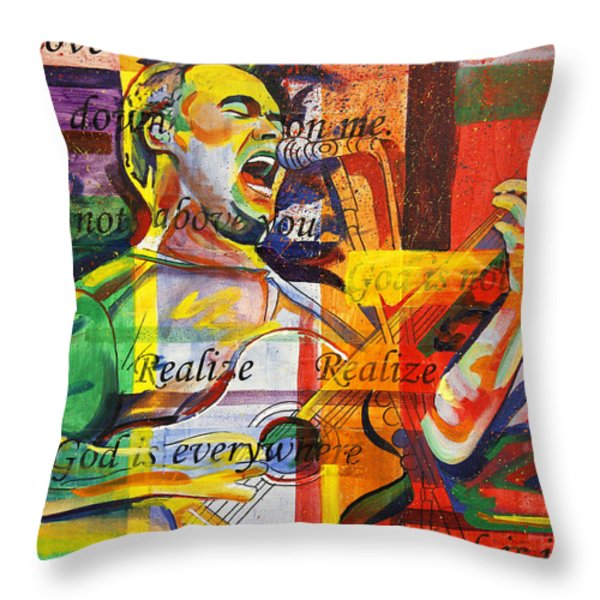 Dave Matthews-Bartender Throw Pillow by Joshua Morton