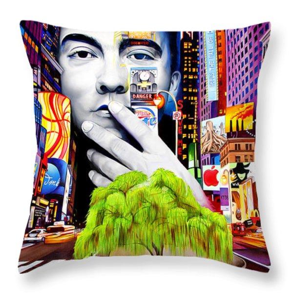 Dave Matthews Dreaming Tree Throw Pillow by Joshua Morton
