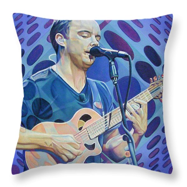 Dave Matthews Pop-Op Series Throw Pillow by Joshua Morton