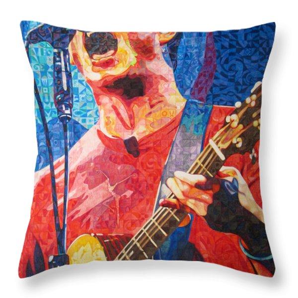 Dave Matthews Squared Throw Pillow by Joshua Morton