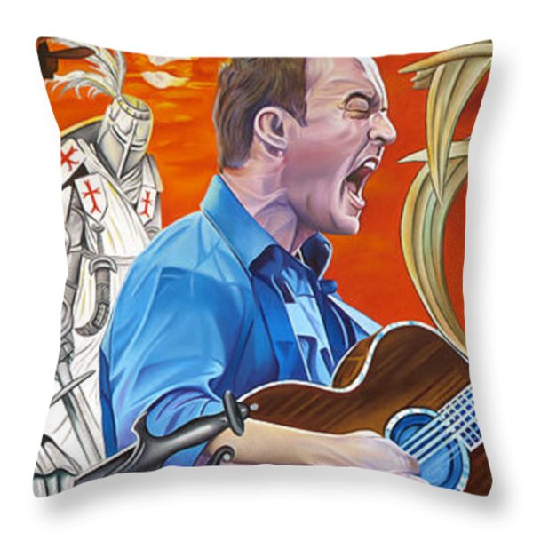 Dave Matthews The Last Stop Throw Pillow by Joshua Morton