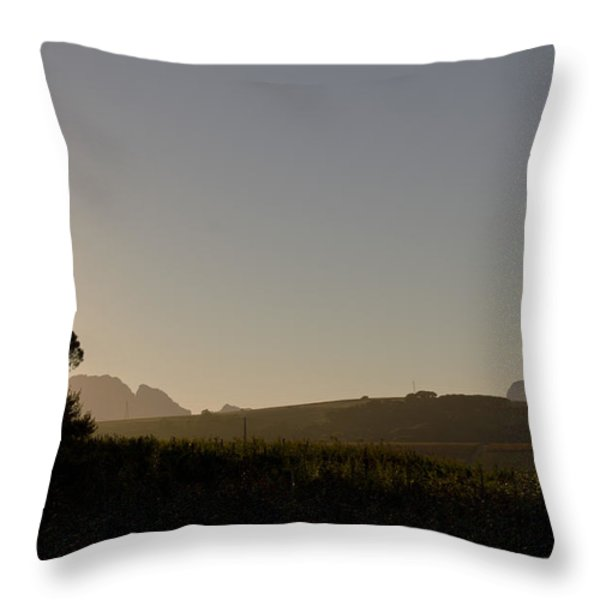 Dawn in Cape Town Throw Pillow by John Stuart Webbstock