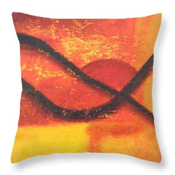 Dawn Throw Pillow by Leana De Villiers