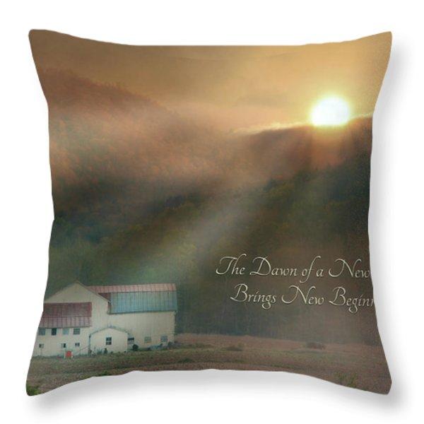Dawn Throw Pillow by Lori Deiter