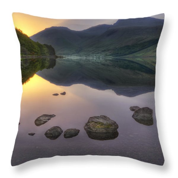 Dawn Of A New Day Throw Pillow by Evelina Kremsdorf
