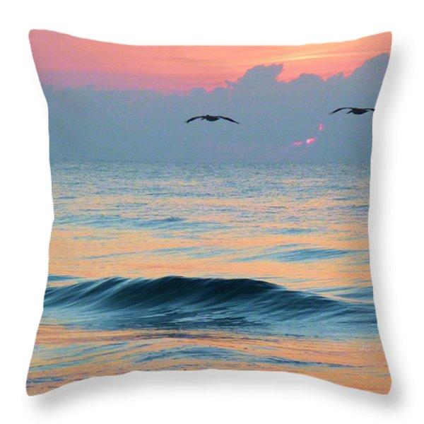 Dawn Patrol Throw Pillow by JC Findley