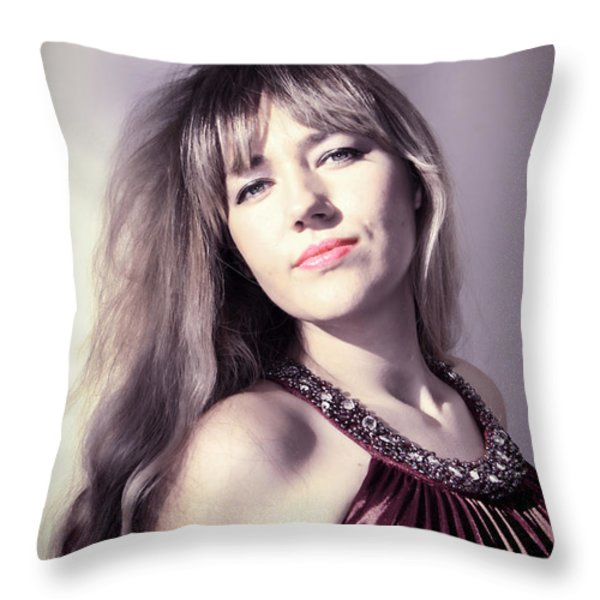 Day Dreaming Throw Pillow by Mariola Bitner