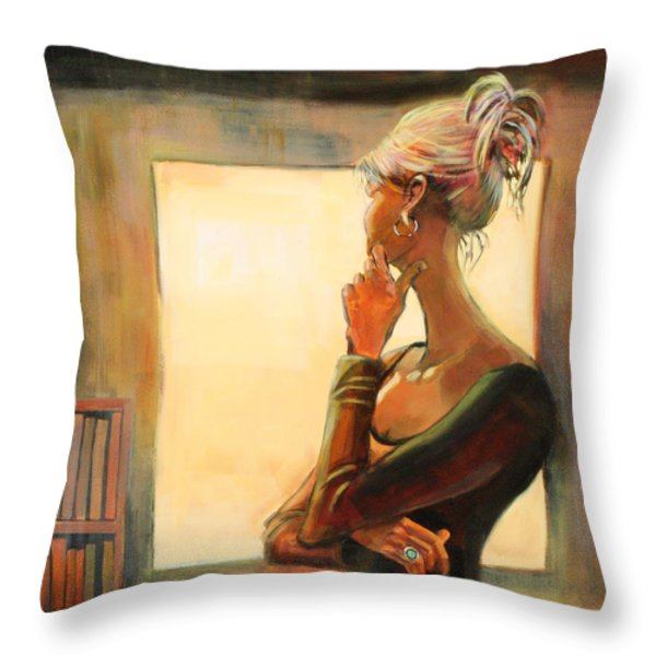Daydreaming Throw Pillow by Sue  Darius