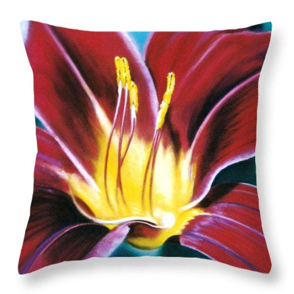 Daylilly Georgia Style Throw Pillow by Melodye Whitaker