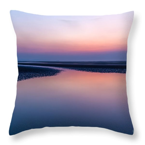 Days End Throw Pillow by Adrian Evans