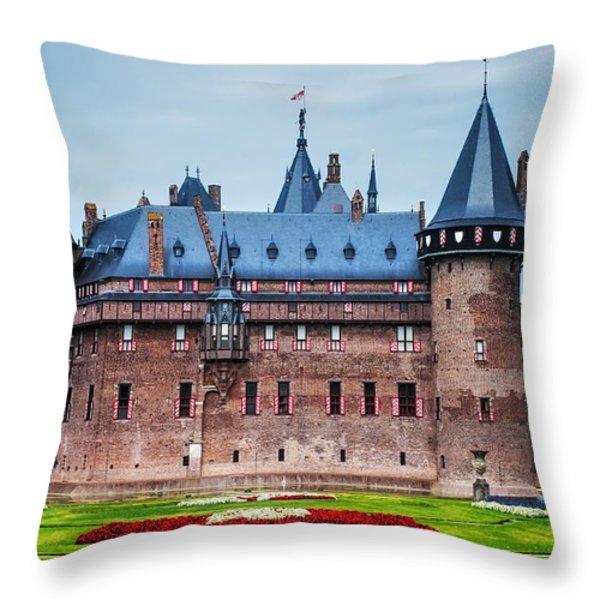 De Haar Castle. Utrecht. Netherlands Throw Pillow by Jenny Rainbow