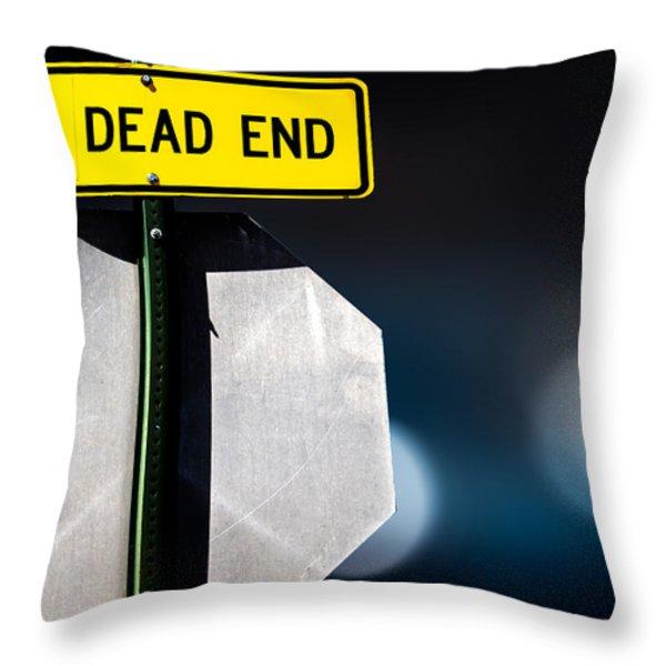 Dead End Throw Pillow by Bob Orsillo