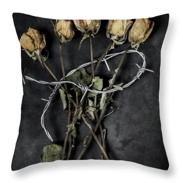 Dead Roses Throw Pillow by Joana Kruse