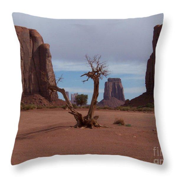 Dead-wood Throw Pillow by Luke Moore