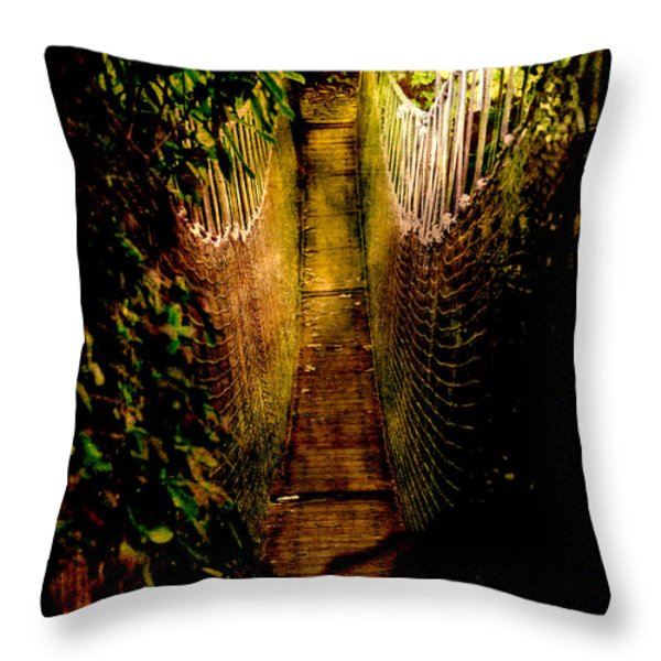 Deadly Path Throw Pillow by Loriental Photography