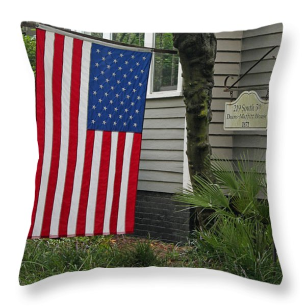 Deans - Maffitt House Throw Pillow by Suzanne Gaff