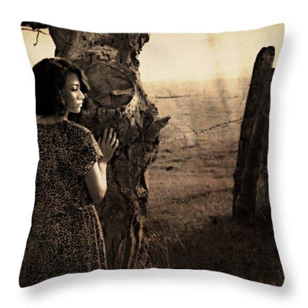 Dear Norma Throw Pillow by Theresa Tahara