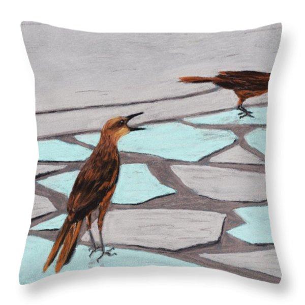 Death Valley Birds Throw Pillow by Anastasiya Malakhova
