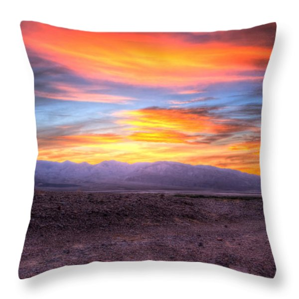 Death Valley Sunset Throw Pillow by Heidi Smith