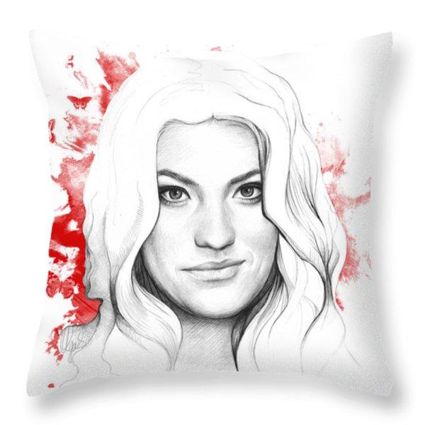 Debra Morgan - DEXTER Throw Pillow by Olga Shvartsur