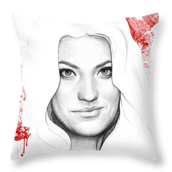 Debra Morgan Portrait - DEXTER Throw Pillow by Olga Shvartsur