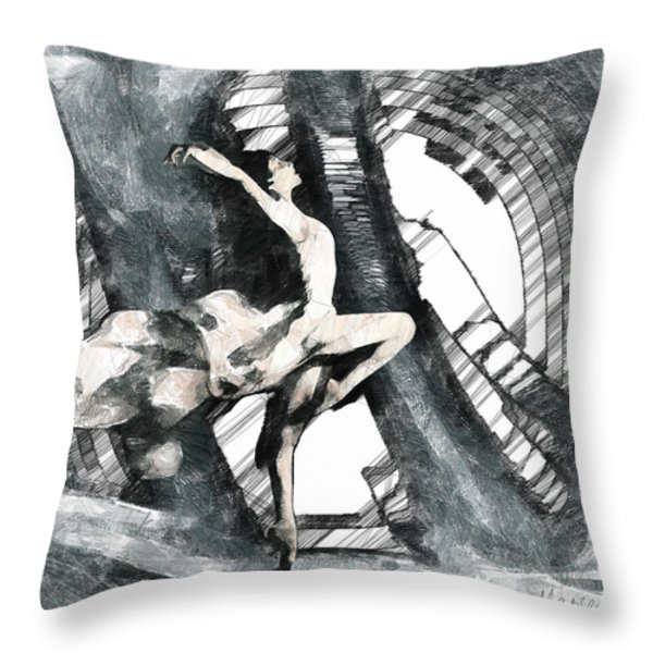 Debut Throw Pillow by Marina Likholat