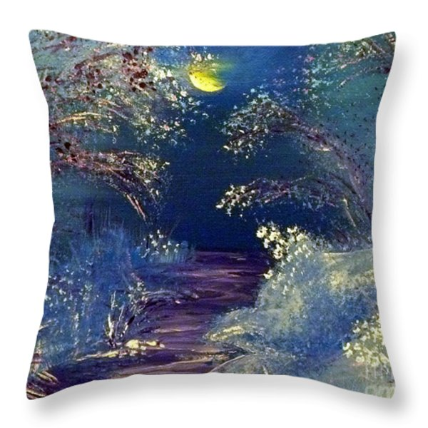 December Night Throw Pillow by Alys Caviness-Gober