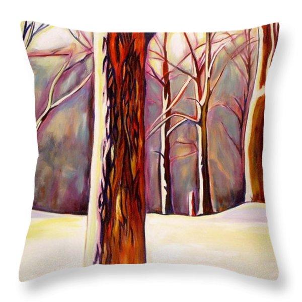 December Throw Pillow by Sheila Diemert