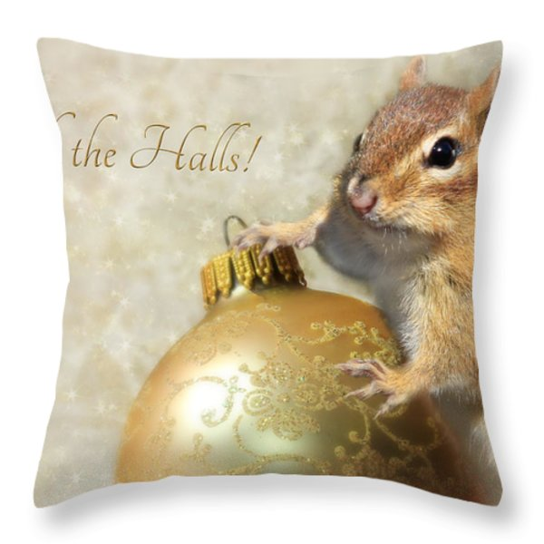 Deck The Halls Throw Pillow by Lori Deiter