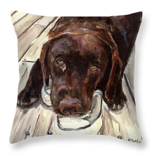 Deckhand Throw Pillow by Molly Poole