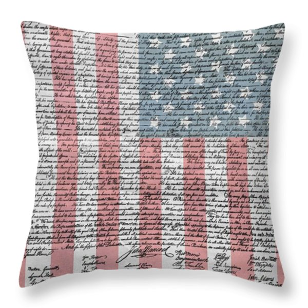 Declaration Of Independence Throw Pillow by Dan Sproul