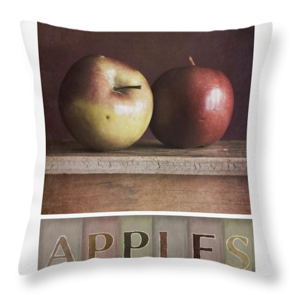 deco apples Throw Pillow by Priska Wettstein