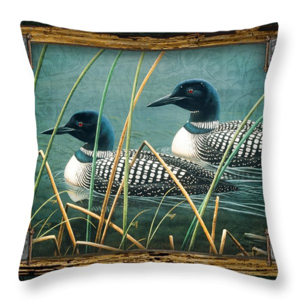 Deco Loons Throw Pillow by JQ Licensing