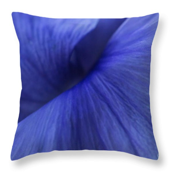 Deconstruction Of A Flower Throw Pillow by Andrea Kollo