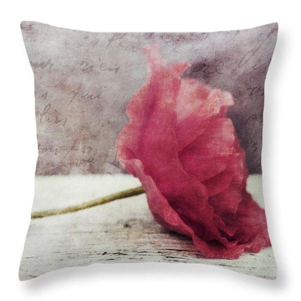 decor poppy horizontal Throw Pillow by Priska Wettstein