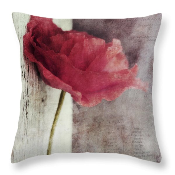 decor poppy Throw Pillow by Priska Wettstein