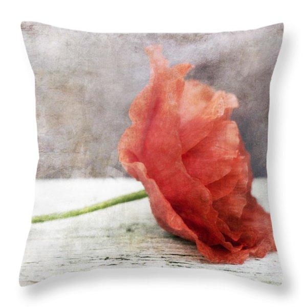 Decor Poppy Red Throw Pillow by Priska Wettstein