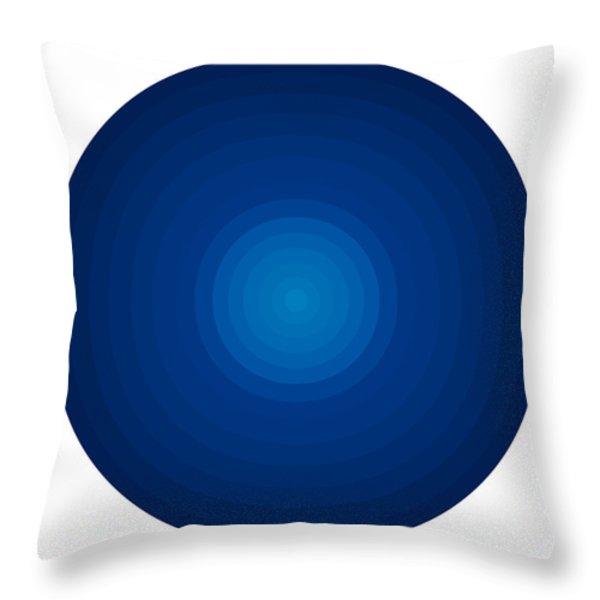 Deep Blue Circles Throw Pillow by Frank Tschakert