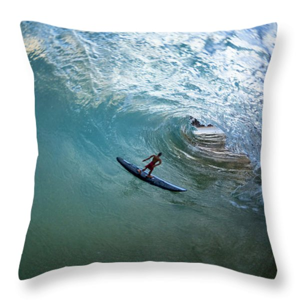 Deep Cavern Throw Pillow by Sean Davey