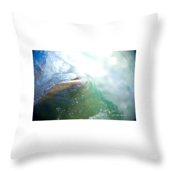 Deep Green Throw Pillow by Sean Davey