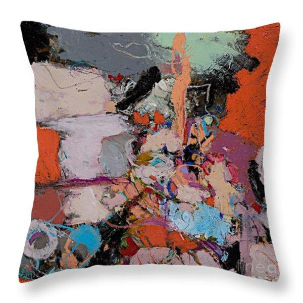 Deep Impulses Throw Pillow by Allan P Friedlander