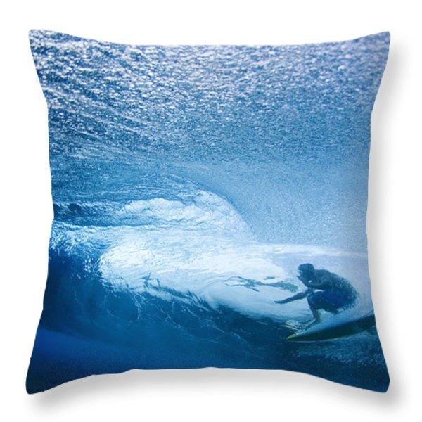 Deep Inside Throw Pillow by Sean Davey