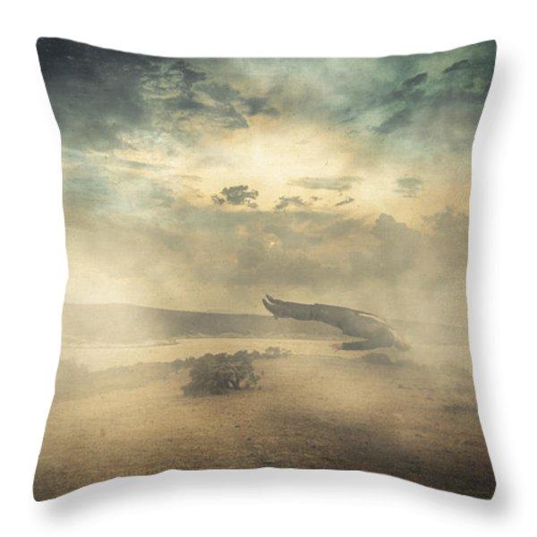 Deep sleep Throw Pillow by Taylan Soyturk
