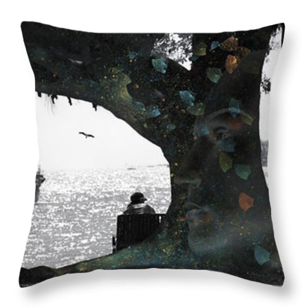 Deeply Rooted Throw Pillow by Betsy A  Cutler