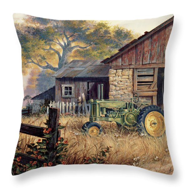 Deere Country Throw Pillow by Michael Humphries