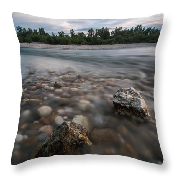 Defying The Flow Throw Pillow by Davorin Mance