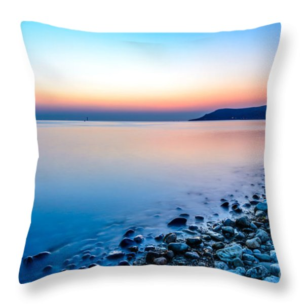 Deganwy North Wales Throw Pillow by Adrian Evans
