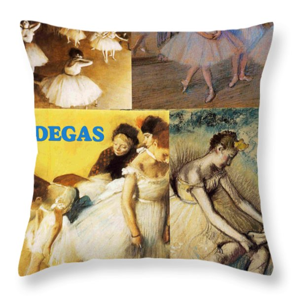 Degas Collage Throw Pillow by Philip Ralley