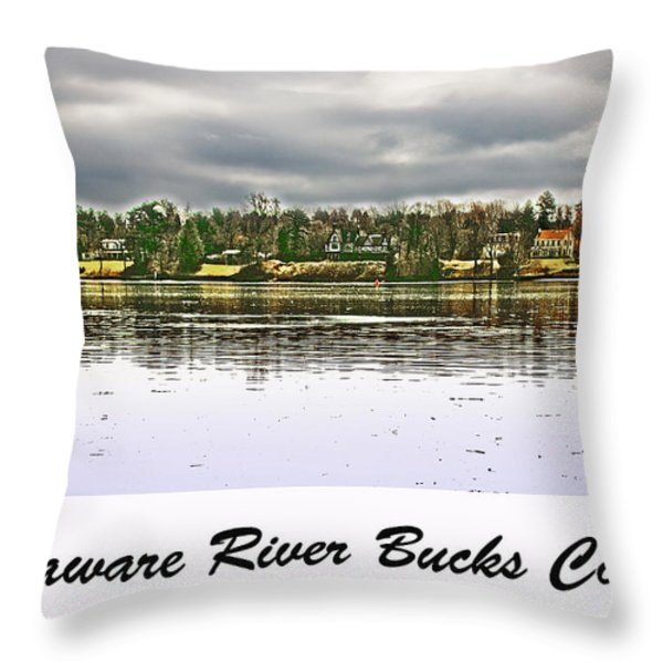 Delaware River Bucks County Throw Pillow by Tom Gari Gallery-Three-Photography